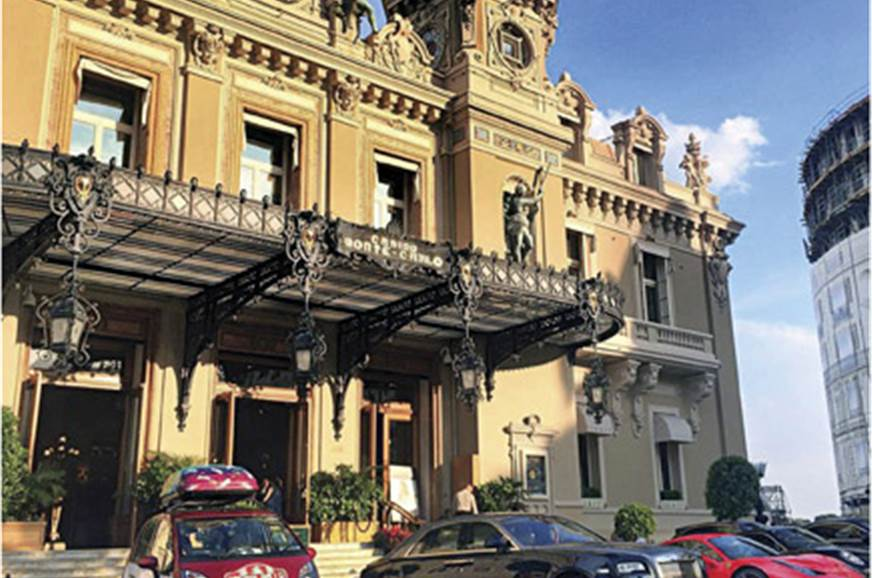 Pride of place parking outside Casino Monte Carlo next to...