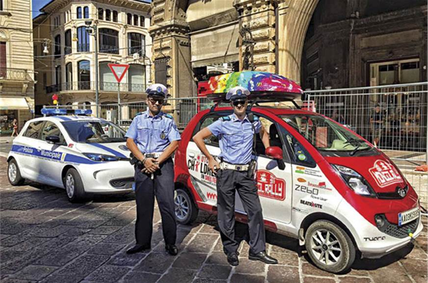 The police in Italy are fascinated by the NanoMADs' ambit...