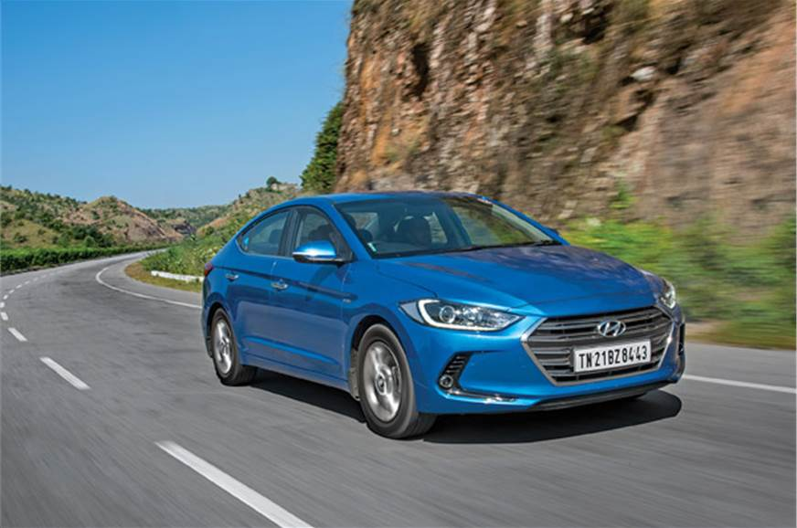 Our bright blue Elantra added a dash of colour to the oth...