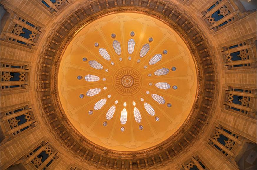 The large central dome is the crowning glory of the Umaid...