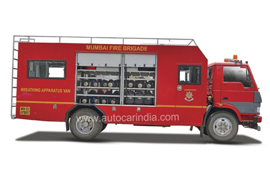 The Breathing Apparatus Van carries fire-proof suits, mas...