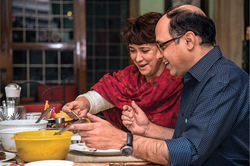 A home-cooked meal officiates Sunil's return home.