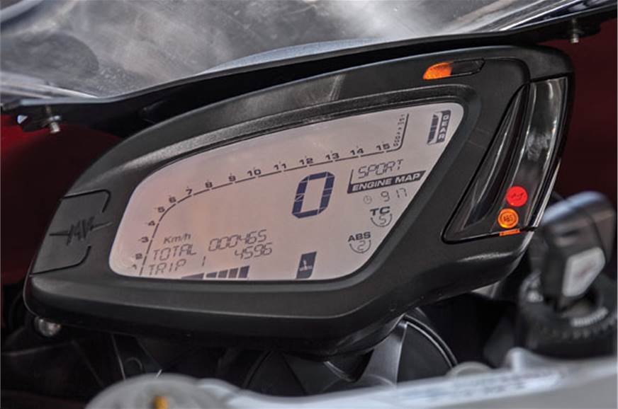 Instrument cluster looks dated.