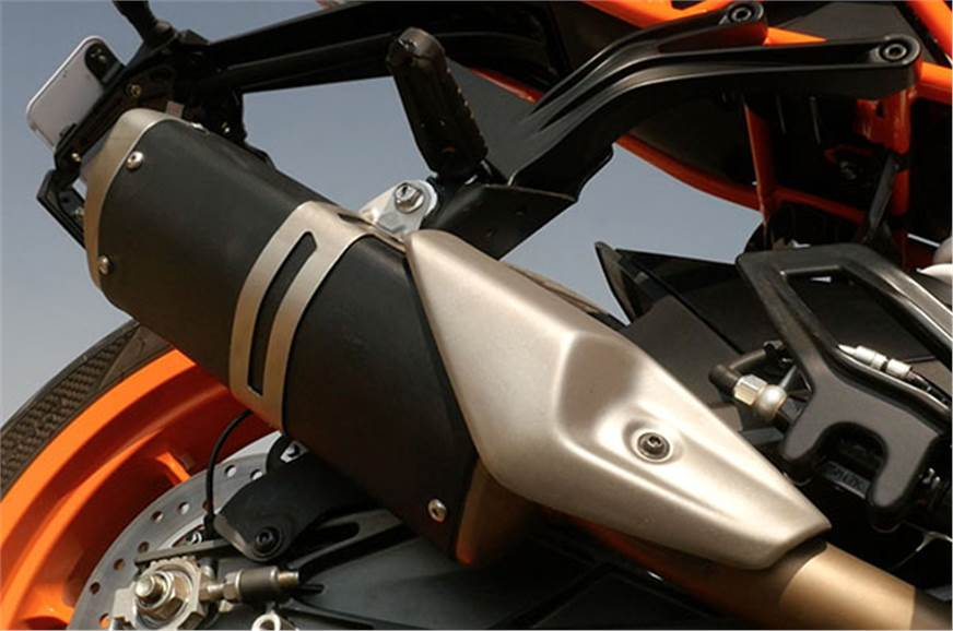 The 2017 RC390 gets a side-slung exhaust in place of the ...