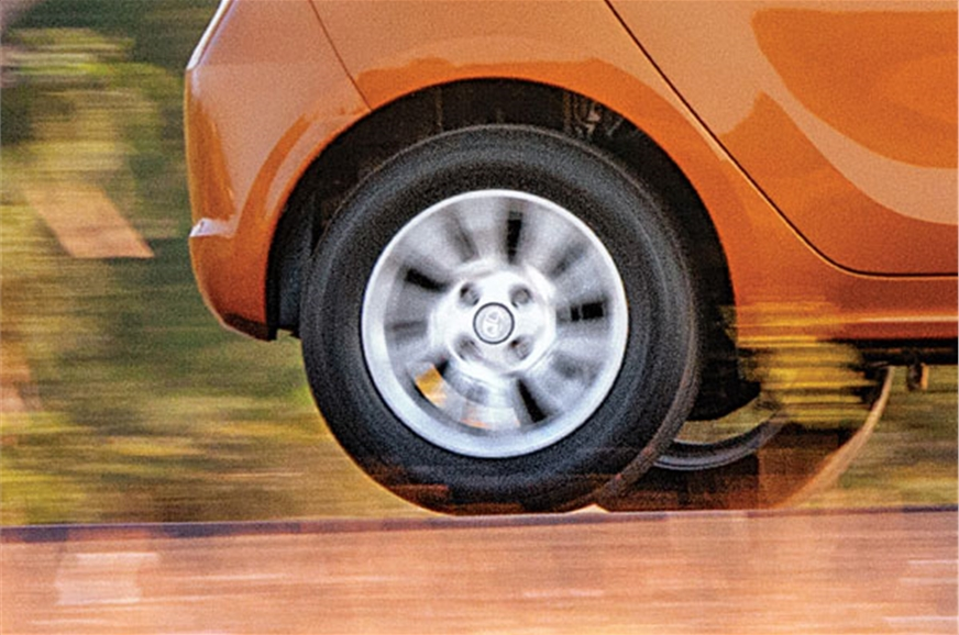 Suspension and tall tyres soak up bumps