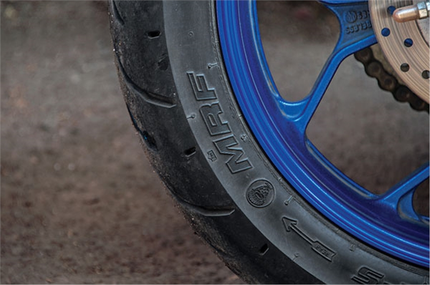 The MRF Zapper tyres lose traction easily.