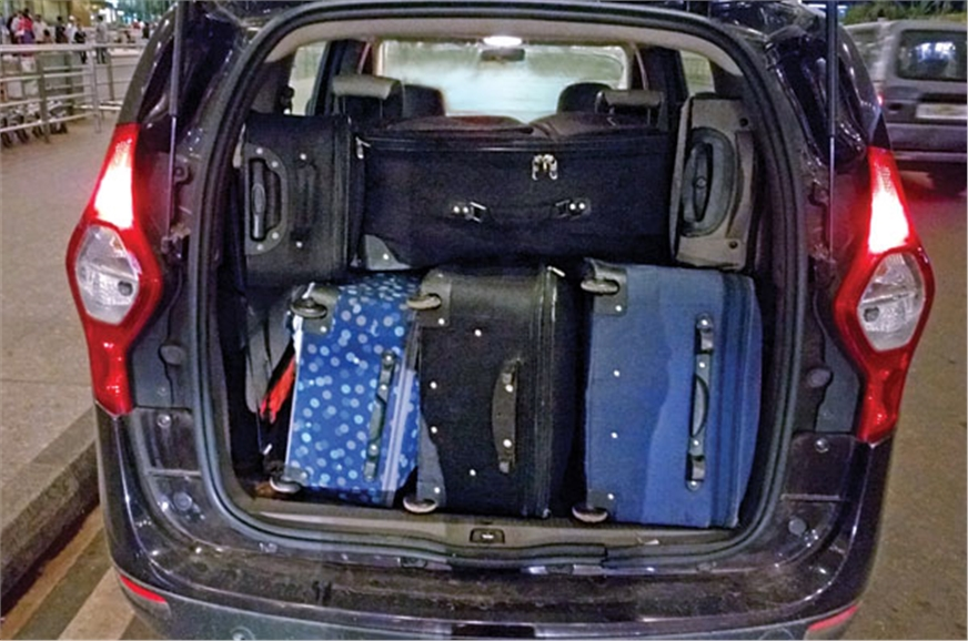 The boot can easily hold up to eight full-size bags and a...