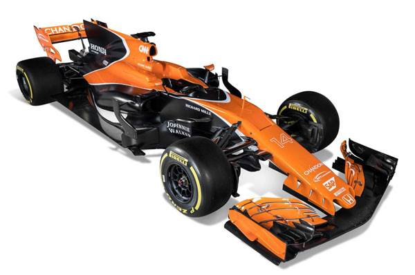 McLaren reveals 2017 F1 car with new livery