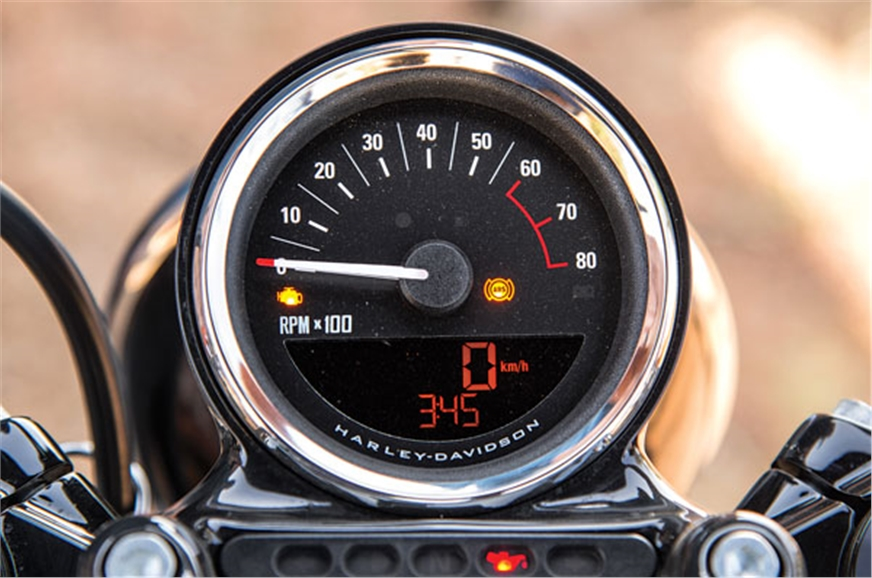 Partially digital speedometer is all new.