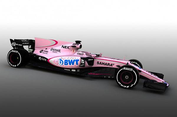 Force India switches to pink livery