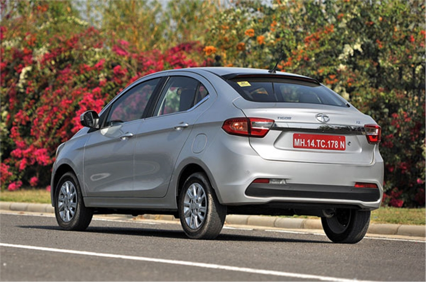 The Tigor's fastback-like tail is a departure from the co...
