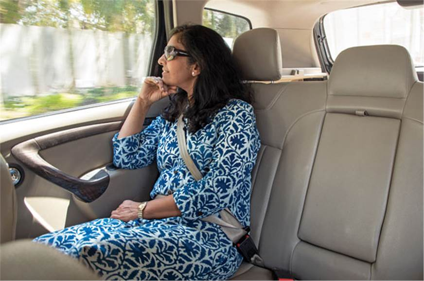 Jyoti enjoyed spending time in the Terrano's back seat, l...