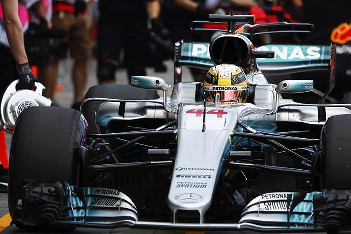 F1 2017: Hamilton leads Mercedes 1-2 in opening session