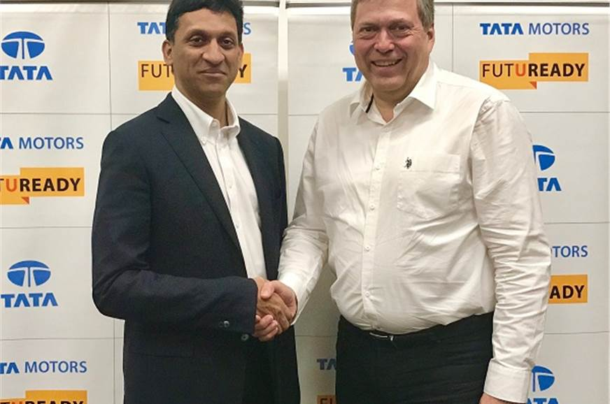 J Anand, MD, Jayem Automotives (L) with Guenter Butschek,...