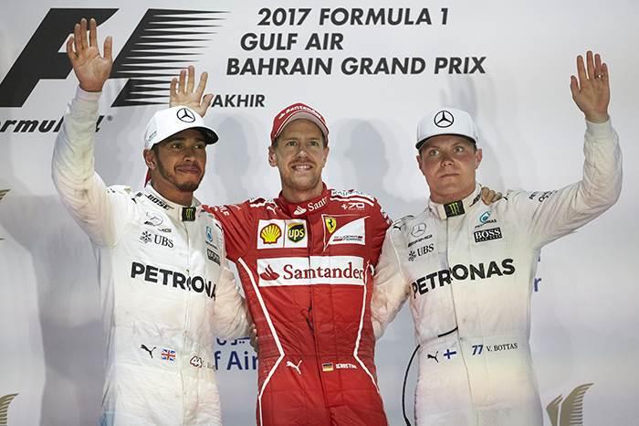 F1: Vettel beats Hamilton in Bahrain