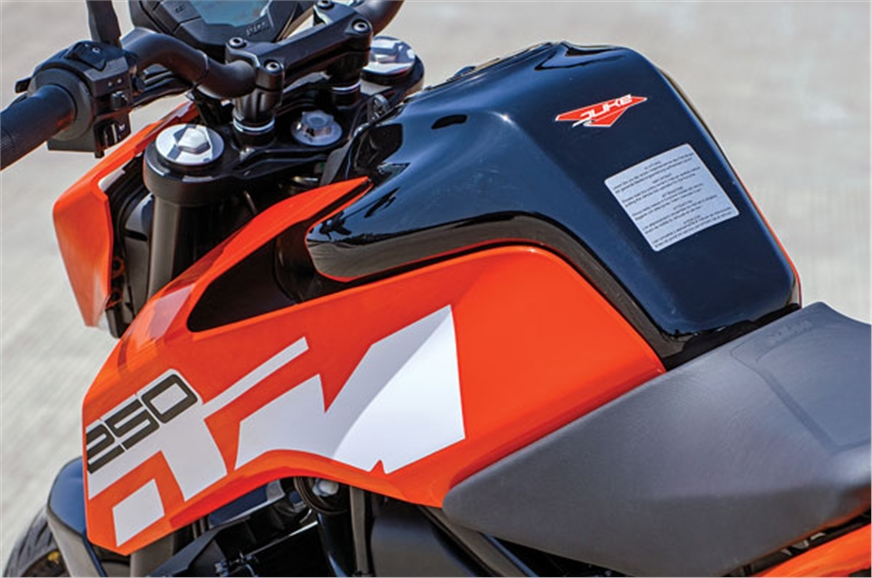 New 13-litre fuel tank is all steel and attractively desi...