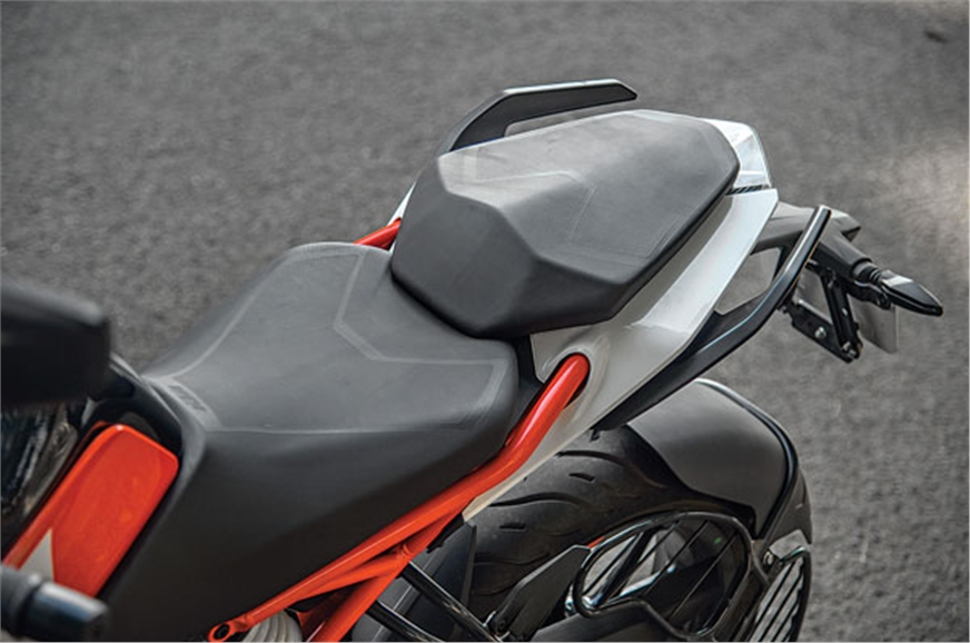 Seat is comfortable and riding position is upright and re...