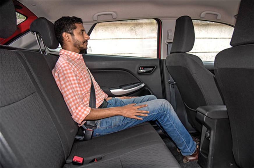 Baleno has the most spacious rear seat by far.