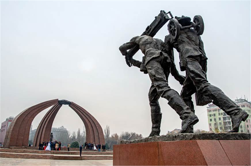 The Victory Monument in Bishkek is dedicated to those who...