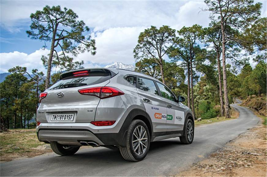 Though a big SUV, the Tucson was effortless to drive on n...