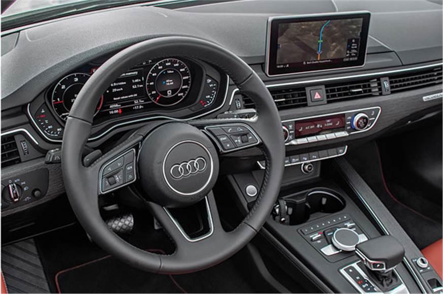 A5 Cabriolet's dash similar to A4. Audi's Virtual Cockpit...