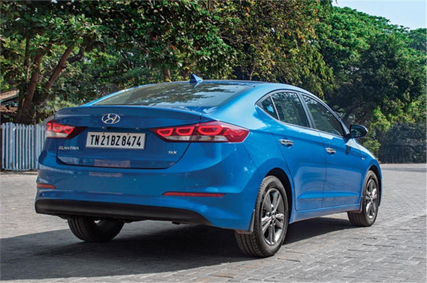 The LED tail-lights make the Elantra stand out.
