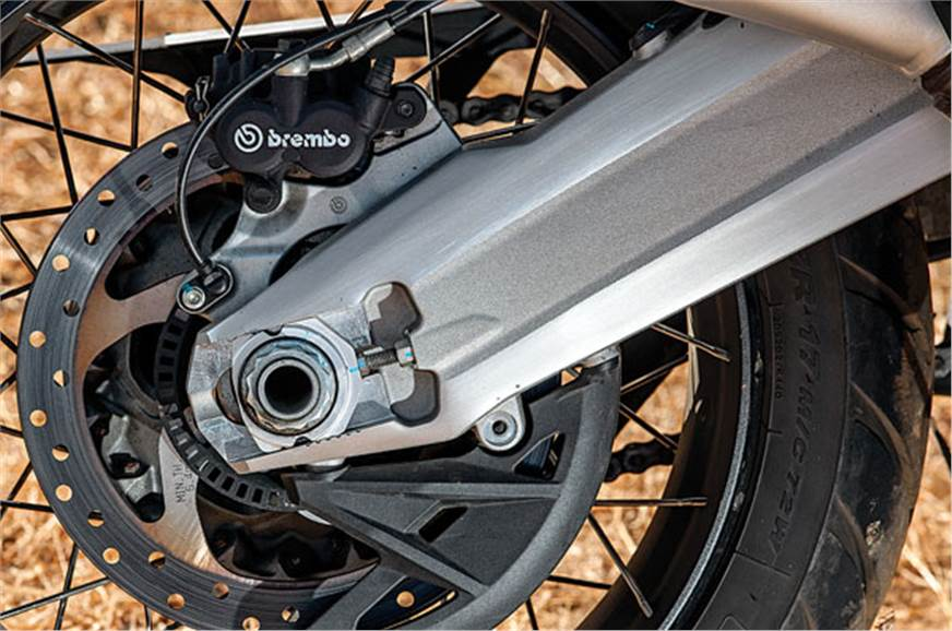 Double-sided swingarm more durable.