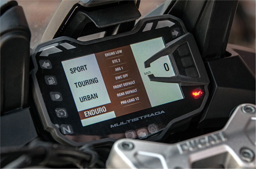 Riding modes can be changed on the go.