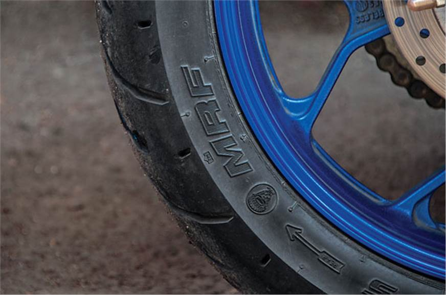 The MRF Zapper tyres lose traction quite easily.