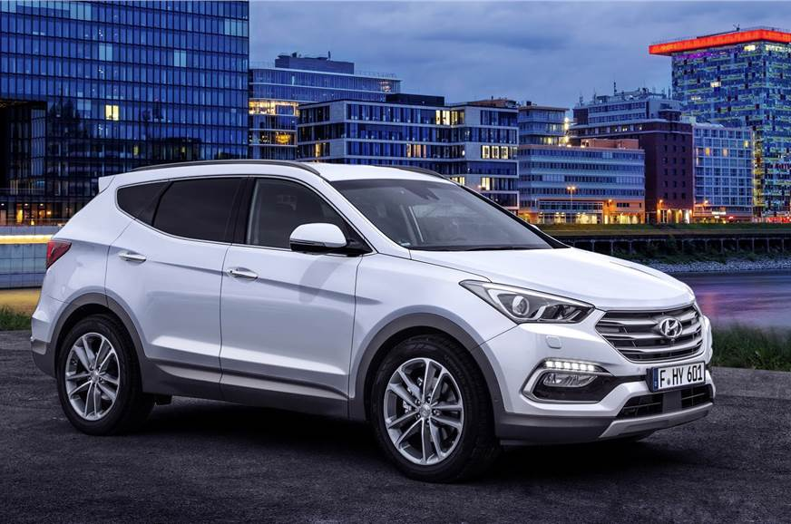Hyundai Santa Fe facelift.