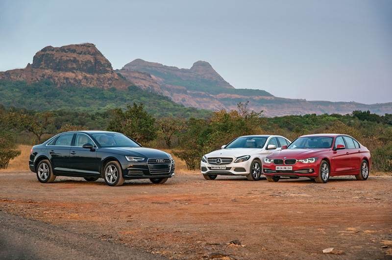 New Audi A4 35TDI vs Mercedes C250d vs BMW 320d comparison
