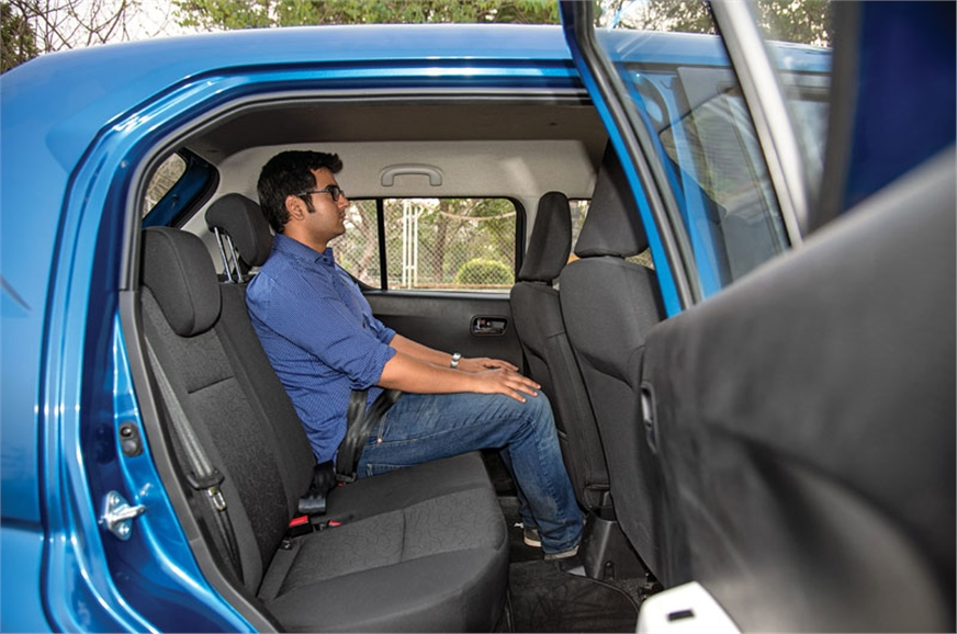 You sit upright in the Ignis. Cabin is larger than it looks.
