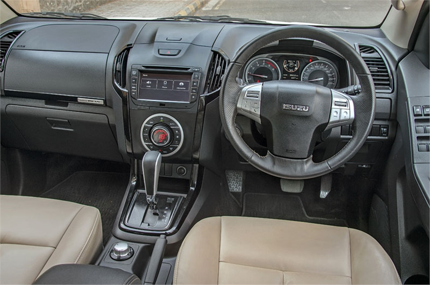 Isuzu dash actually has an attractive design, but hard pl...