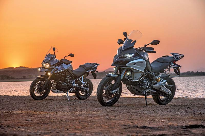 2017 Ducati Multistrada Enduro v Triumph Tiger Explorer XC comparison