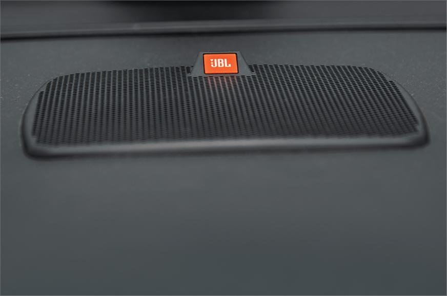 10-speaker JBL system offers excellent sound quality.