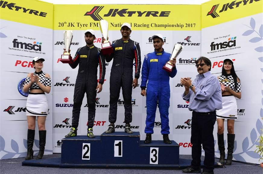 Vishnu Prasad won all three  EuroJK races in round 1.
