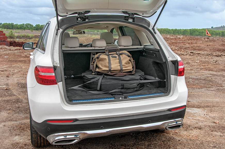 spare tyre still housed inside the GLC's boot