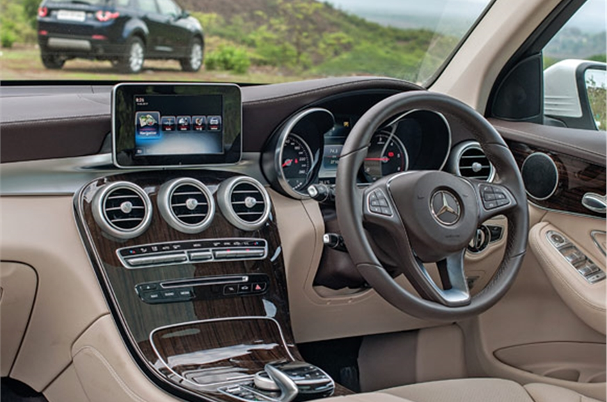 C-class-based Merc GLC cabin is the more modern and luxur...