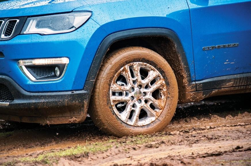 Standard Firestone tyres surprisingly grippy in the slush.