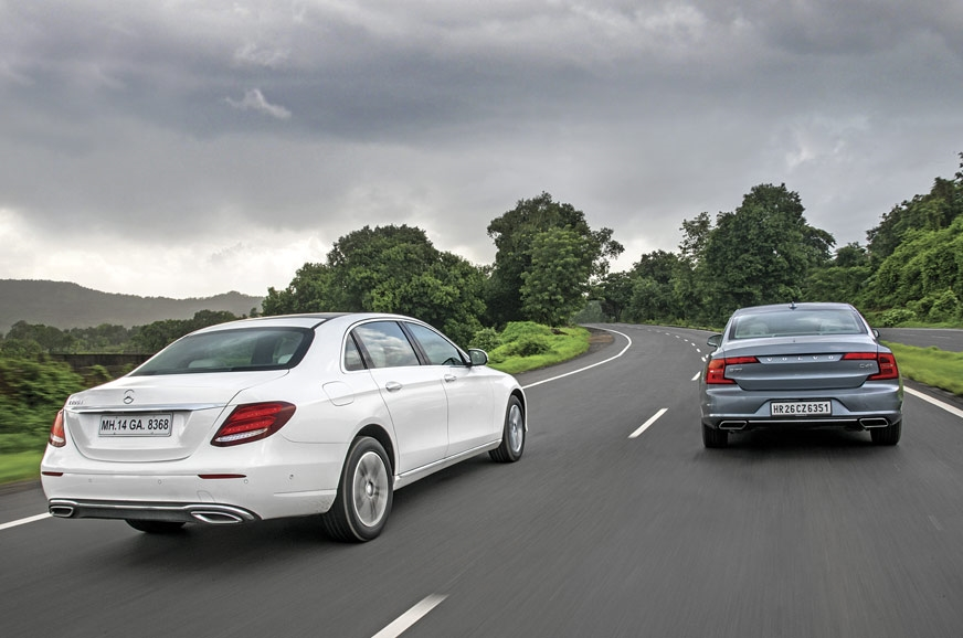 The E-class and S90 are more about luxury and soothing in...