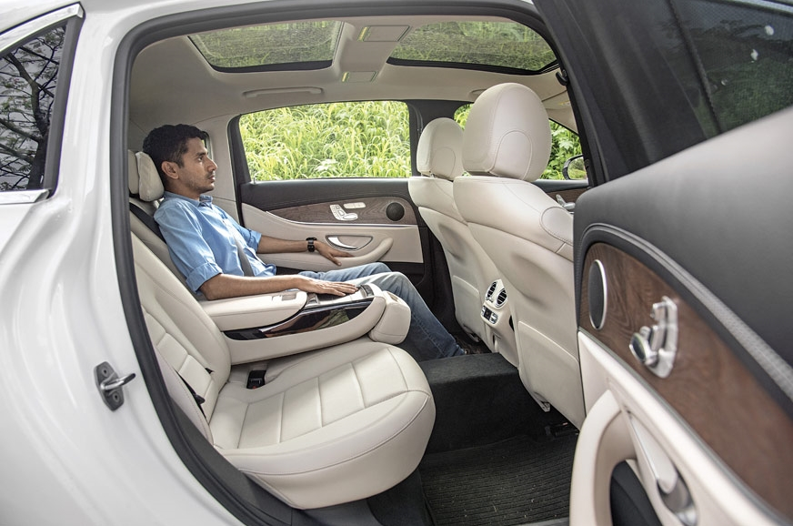 With a soft headrest, backrest recline and stretched rear...
