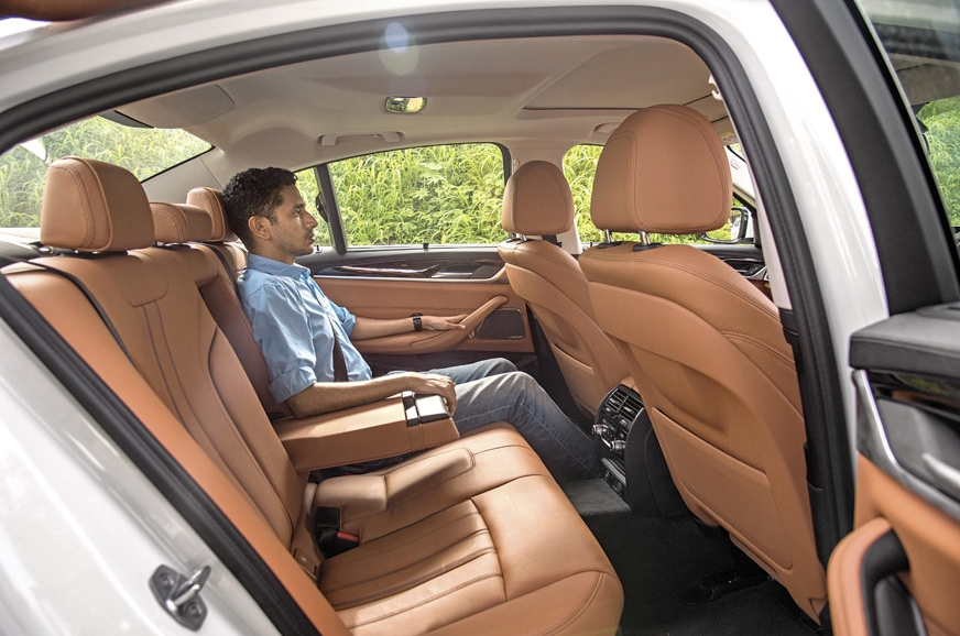 5-series has impressive space and comfort but the backres...