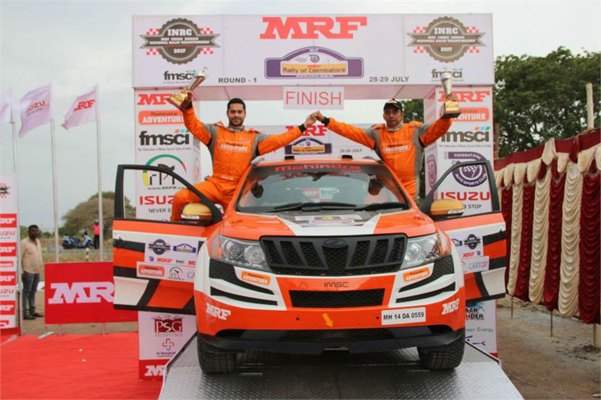 Gill wins INRC Round 1 at Coimbatore.