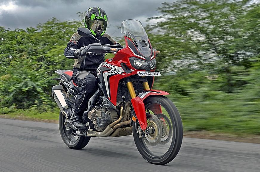 2017 Honda Africa Twin riding