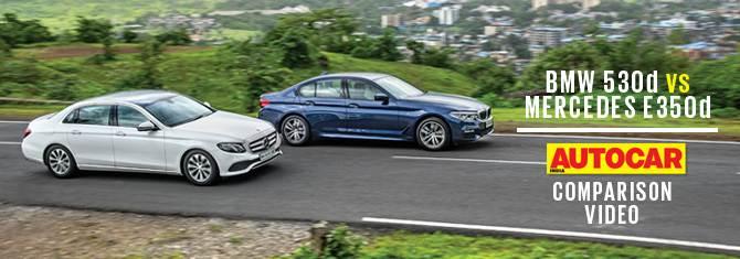 2017 BMW 530d vs Mercedes E350d comparison video