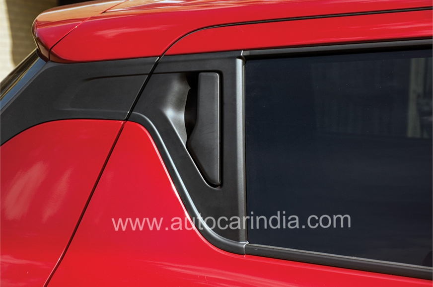 Rear door handles sit in C-pillar; an interesting detail.