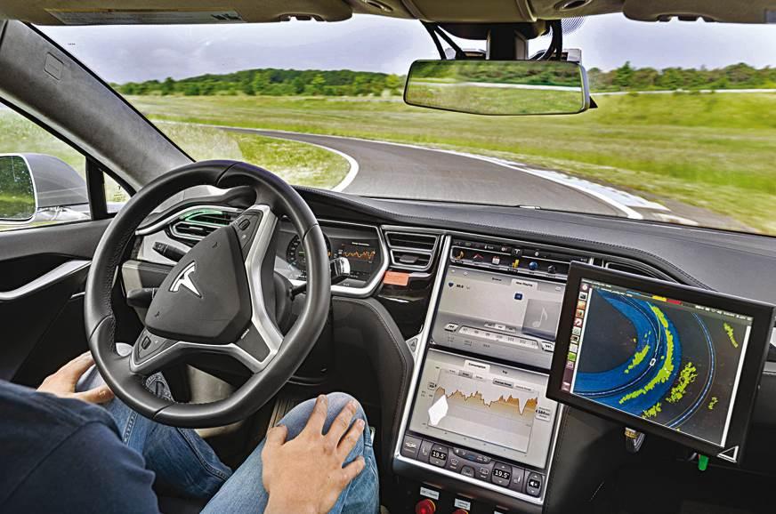 Tesla Model S modified for SAE Level 3 autonomoy.