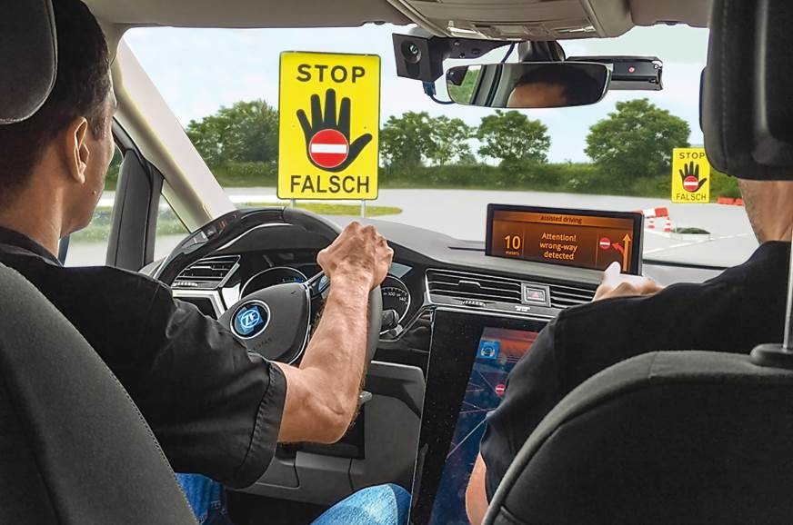 Using road signs, maps and GPS info, the Vision Zero Vehi...