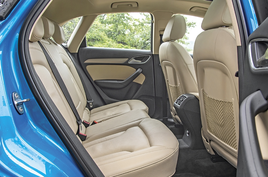 The Q3's rear seats are comfy and supportive; legroom is ...