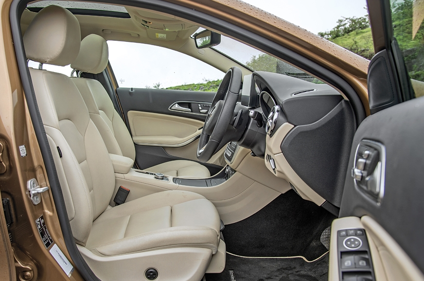Car-like driving position robs GLA of the SUV feel.